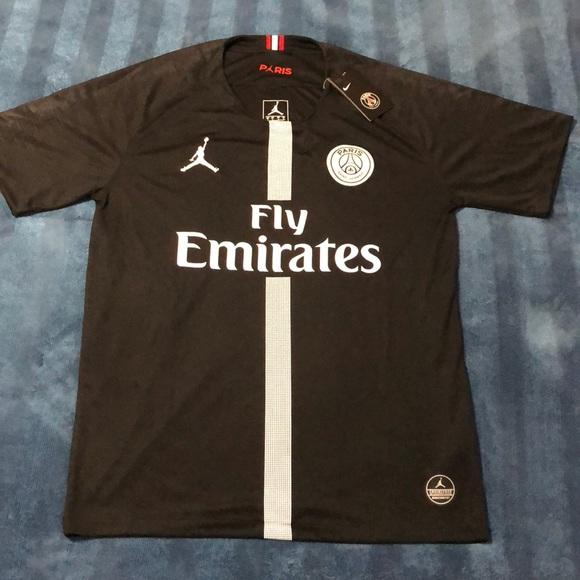 promo code 2caa2 73016 Jordan Paris Saint Germain Soccer Jersey NWT